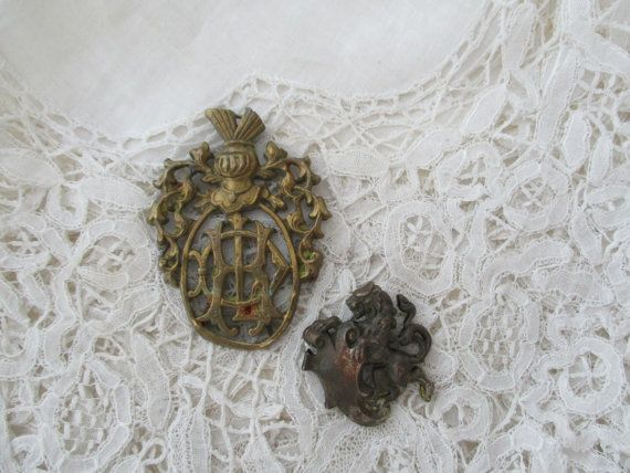 Antique french component x 2 destash by Nkempantiques on Etsy
