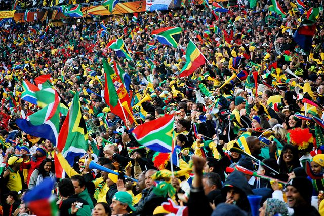 South Africa Fans Celebration At Soccer City By Celso Flores Via Flickr World Cup South Africa Mens World Cup
