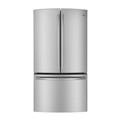 Ge Profile 231 Cu Ft French Door Refrigerator In Stainless Steel