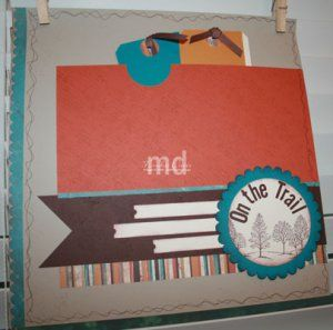 On the Trail Scrapbook Layout - left page of two page layout. Stampin' Up! Lovely as a Tree