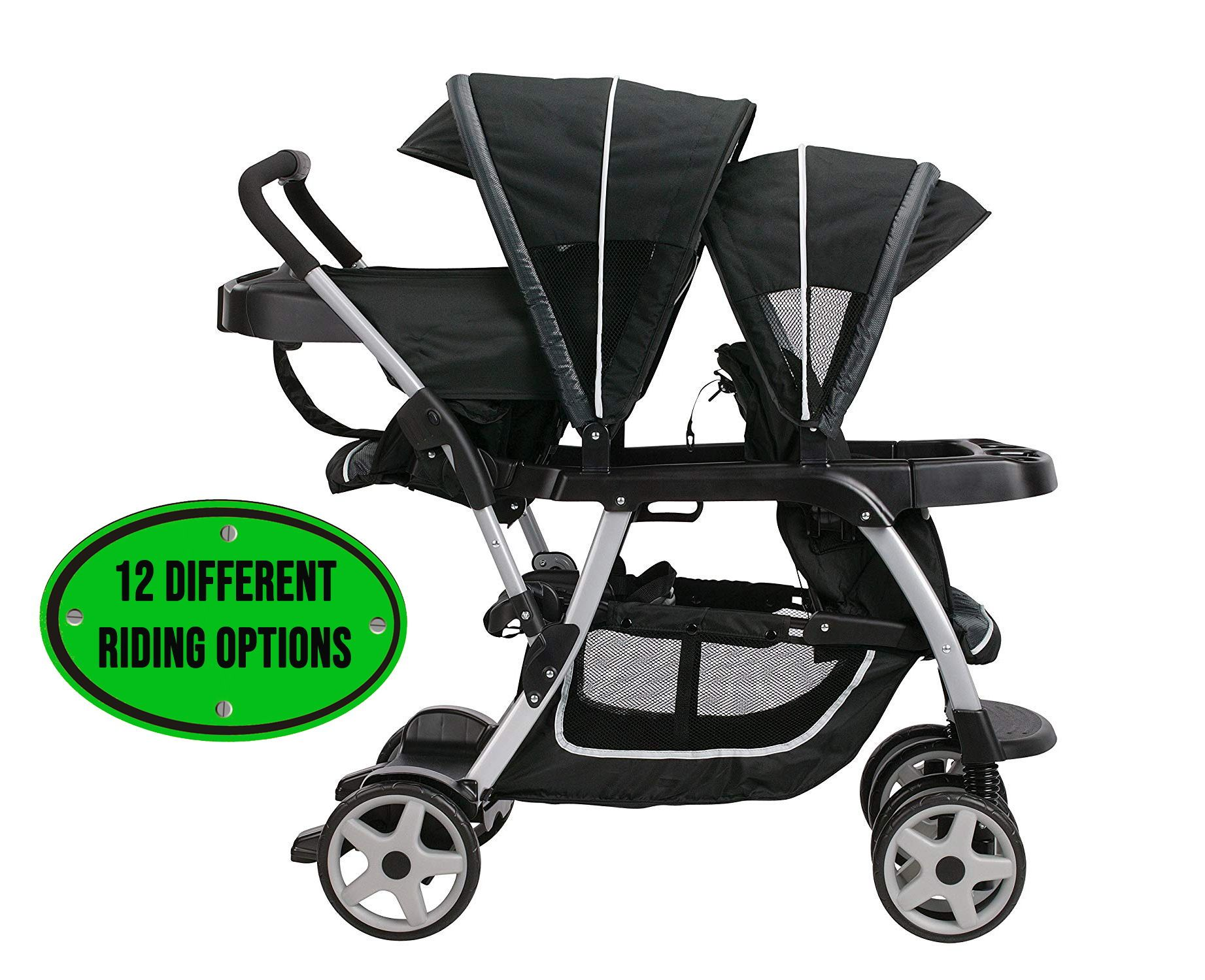 Graco Ready2Grow LX Double Stroller for Infant and Toddler