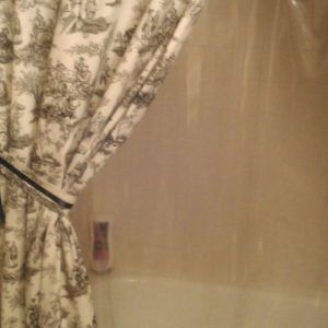 Stall Shower Curtain Liner With Suction Cups