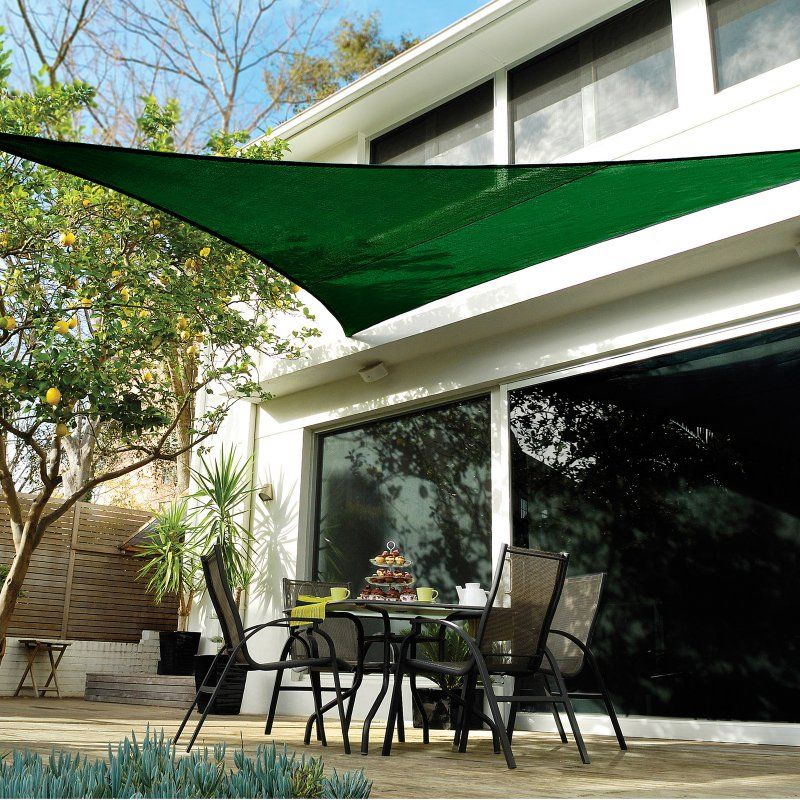 Coolaroo Coolhaven 18 Ft Large Triangle Shade Sail Sapphire Deck