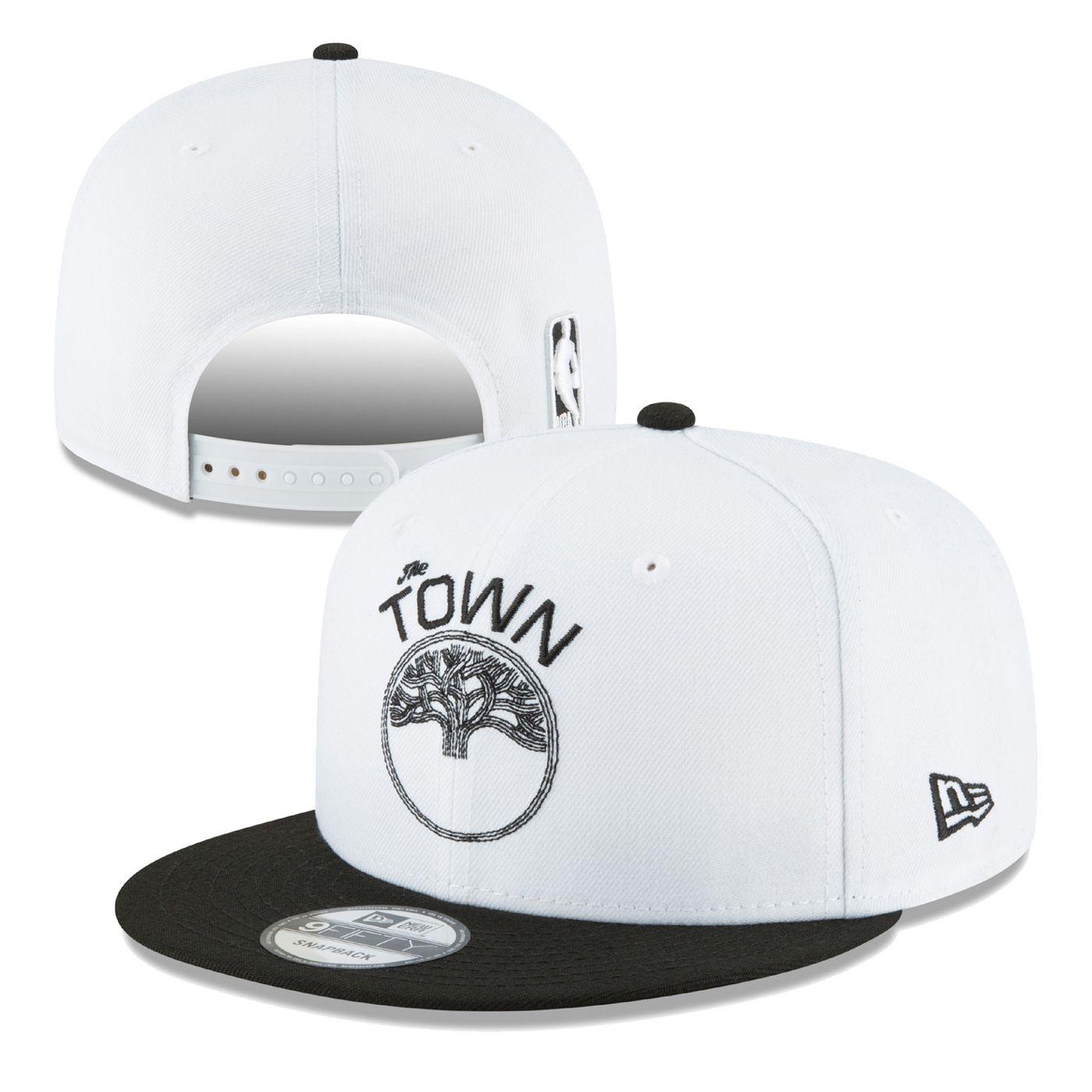 new style 4b68b df359 Golden State Warriors New Era  The Town  Full Logo 9FIFTY Snapback -  White Black