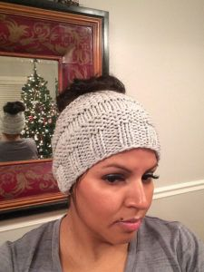 Free knit ponytail hat pattern 0a9d73e21a5