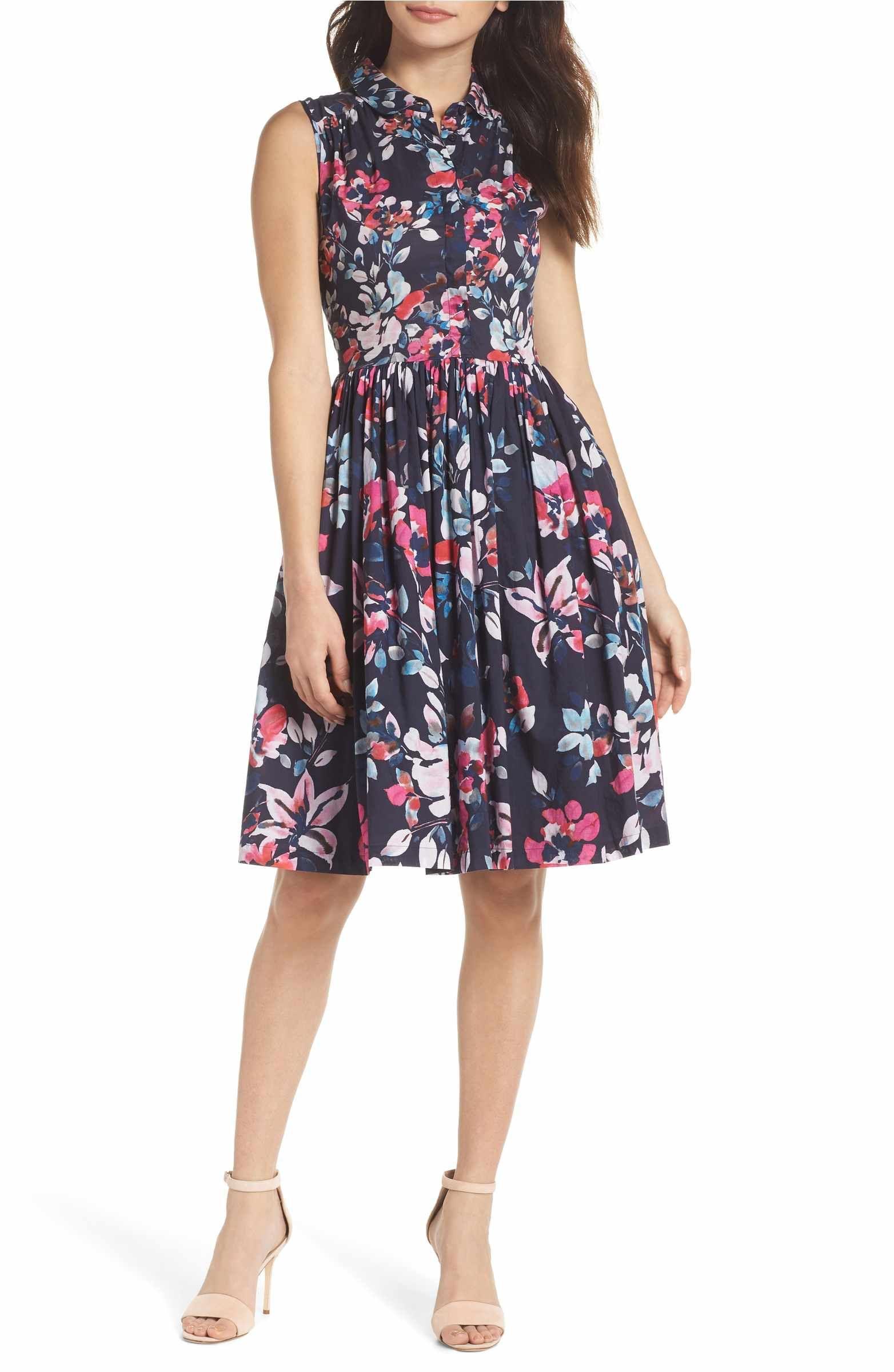 French Connection Linosa Cotton Voile Fit Flare Dress Nordstrom Fit Flare Dress Dresses Nordstrom Dresses [ 2400 x 1564 Pixel ]