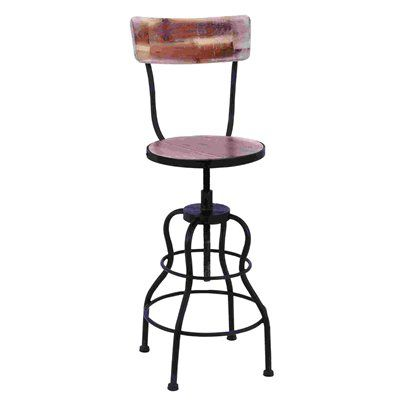 Woodland Imports 55925 Old Look Adjustable Bar Stool