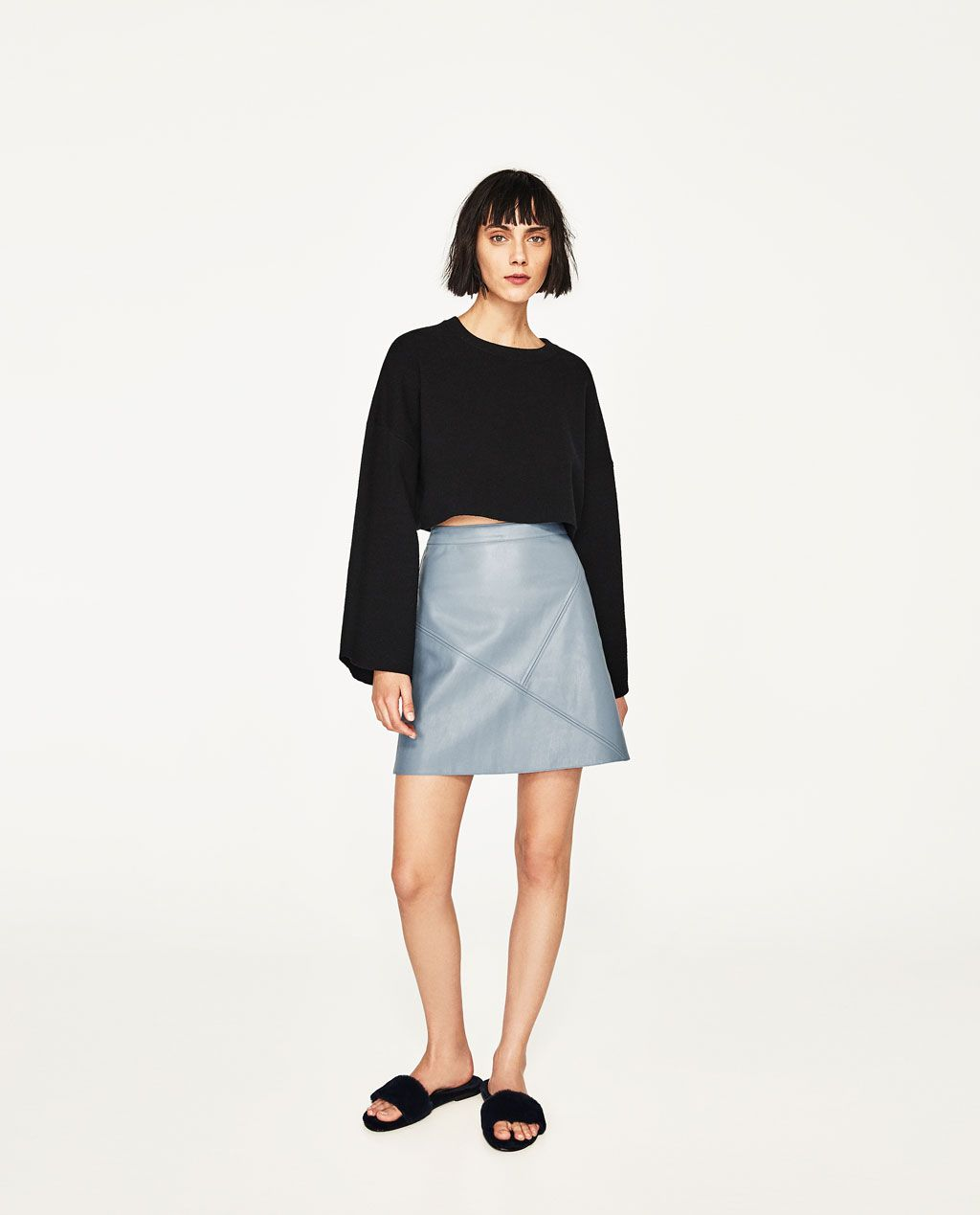 c5404d5d71 Image 1 of A-LINE SKIRT from Zara | 2016-2017 wish list | Leather a ...