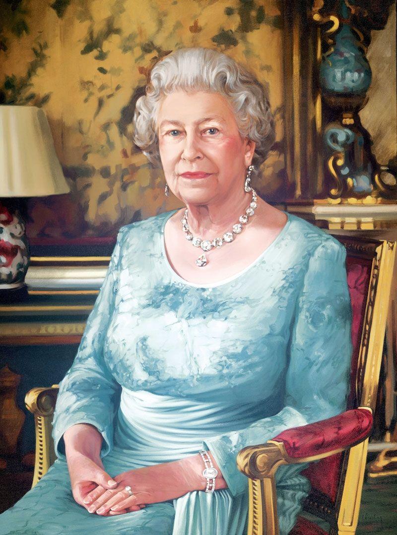 Queen Victoria's Collet Necklace worn by HM Queen Elizabeth II