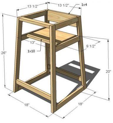 High Chair Plans Wood work Pinterest High chairs