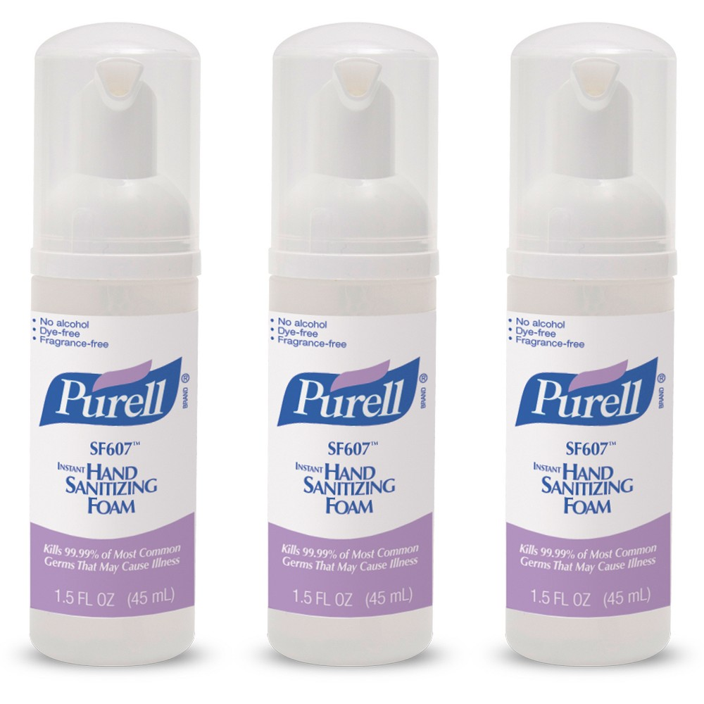 Purell Instant Hand Sanitizing Foam 1 5 Oz 3 Ct Hand Sanitizer