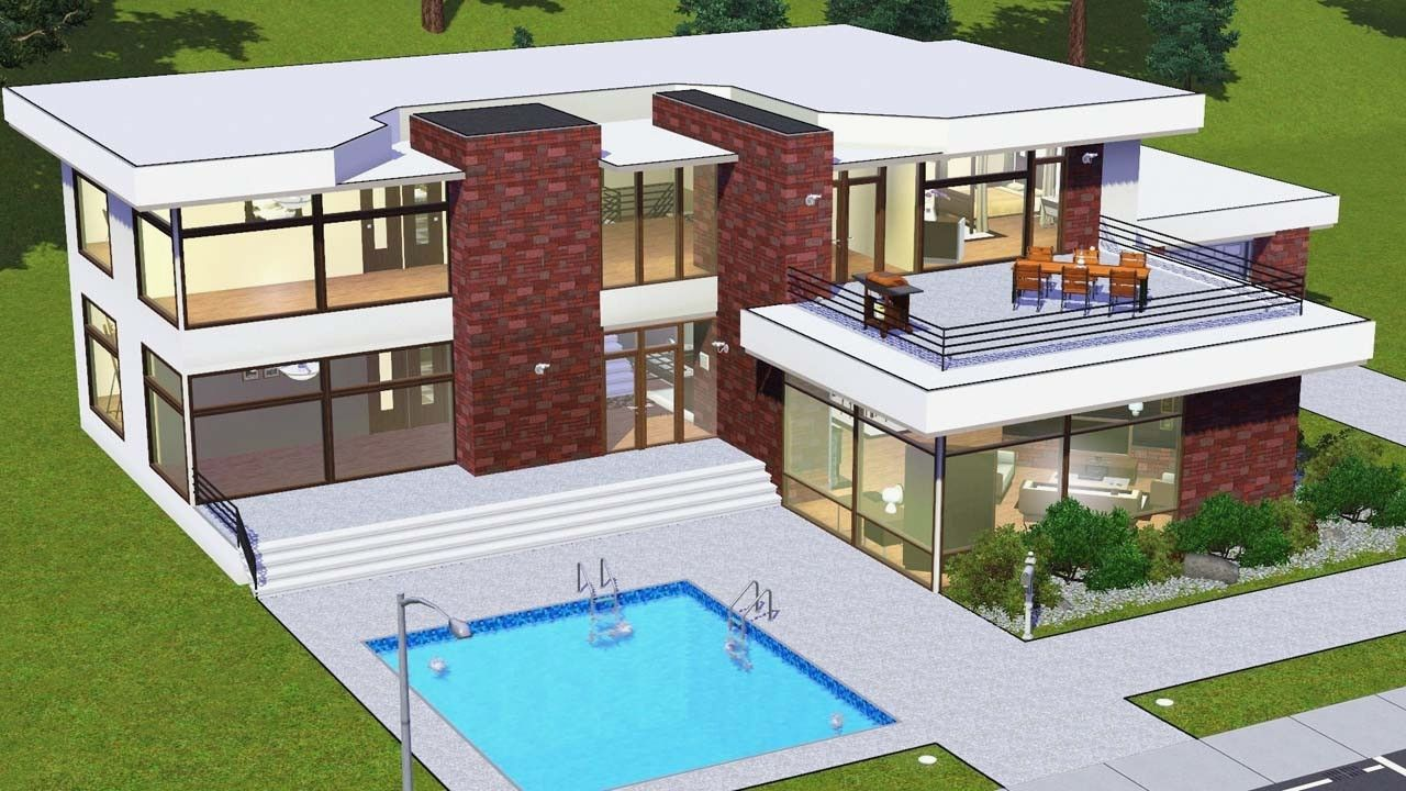 Sims 3 Modern Mansion Floor Plans Beautiful Sims Modern House Plans 1280x720 Jpeg Casa Pequena Casas