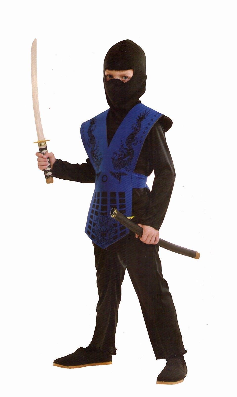 Girls Boys Costume Ninja Jumpsuit Fancy Dress Book Week Outfit
