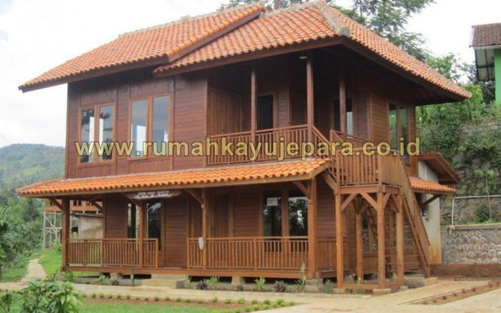 Desain Rumah Kayu 2 Lantai Rumah Kayu Desain Rumah Rumah Minimalis