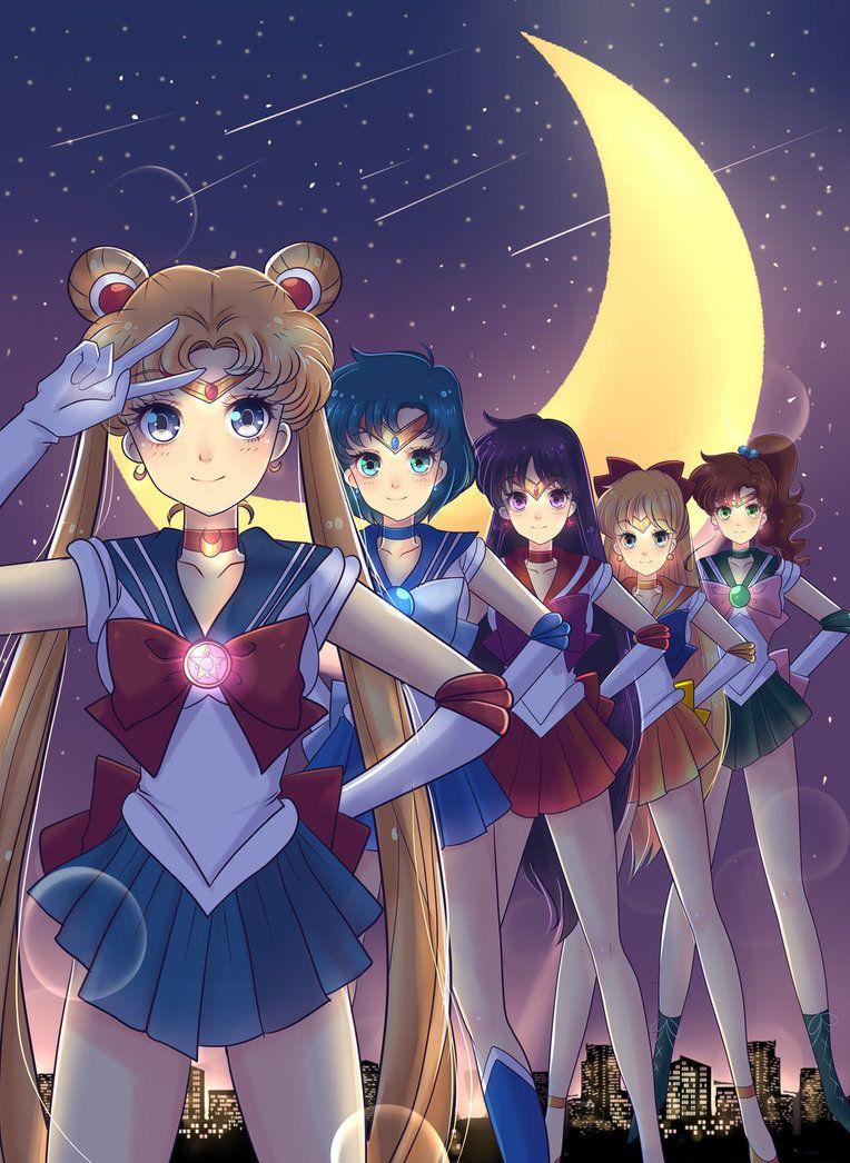 Sailor Scouts Wallpaper By Invader Celes Deviantart Com On