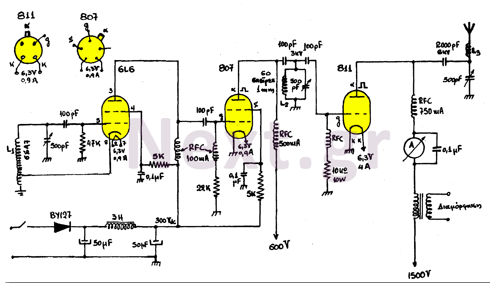 200w Valve Rf Transmitter Circuit Amplificadores Valvulas Spy Fm