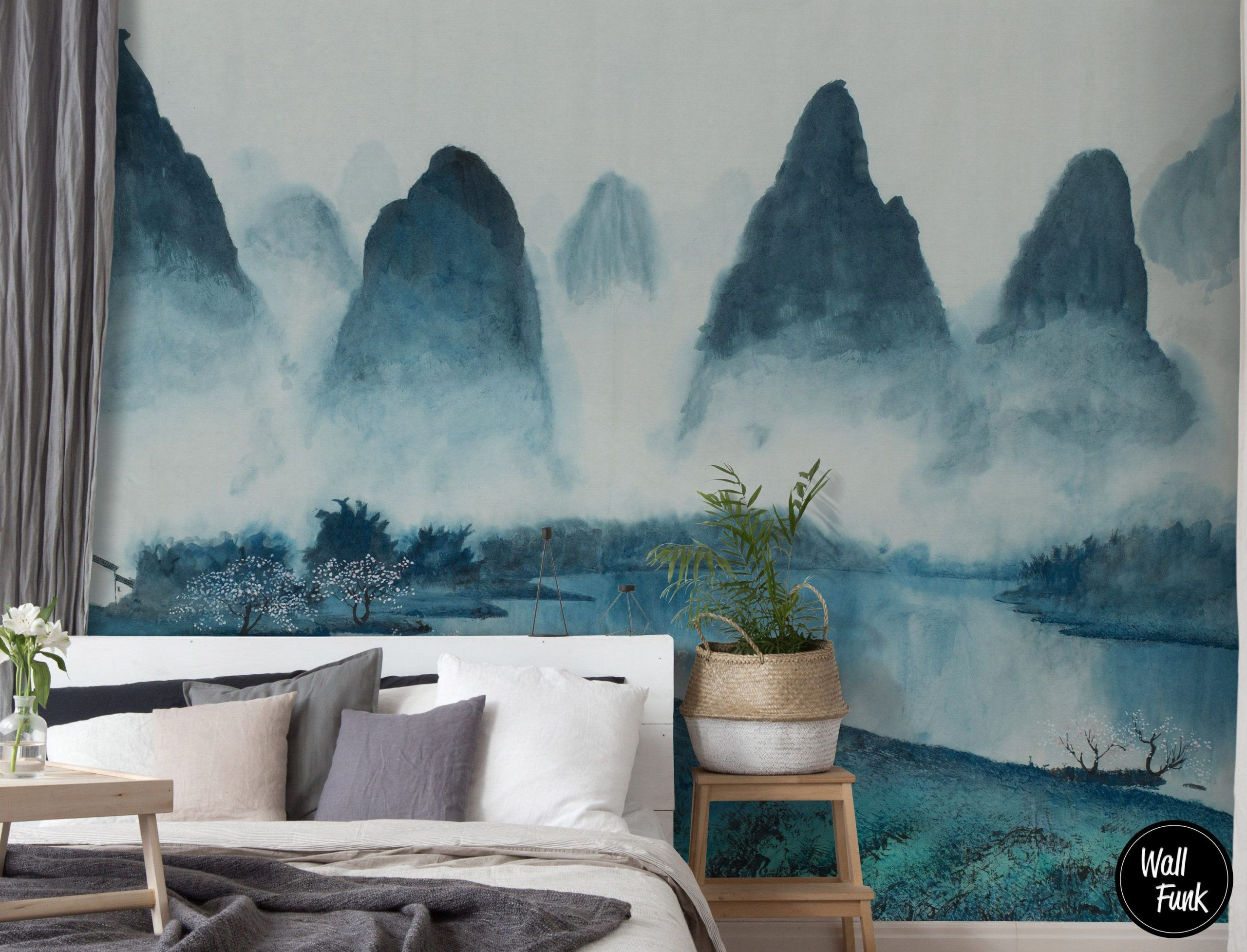 Removable Wallpaper Made With Recycled Paper Easy To Install Water Activated Adhesive Wallpaper Removable Cloud Wallpaper Wallpaper Decor Removable Wallpaper