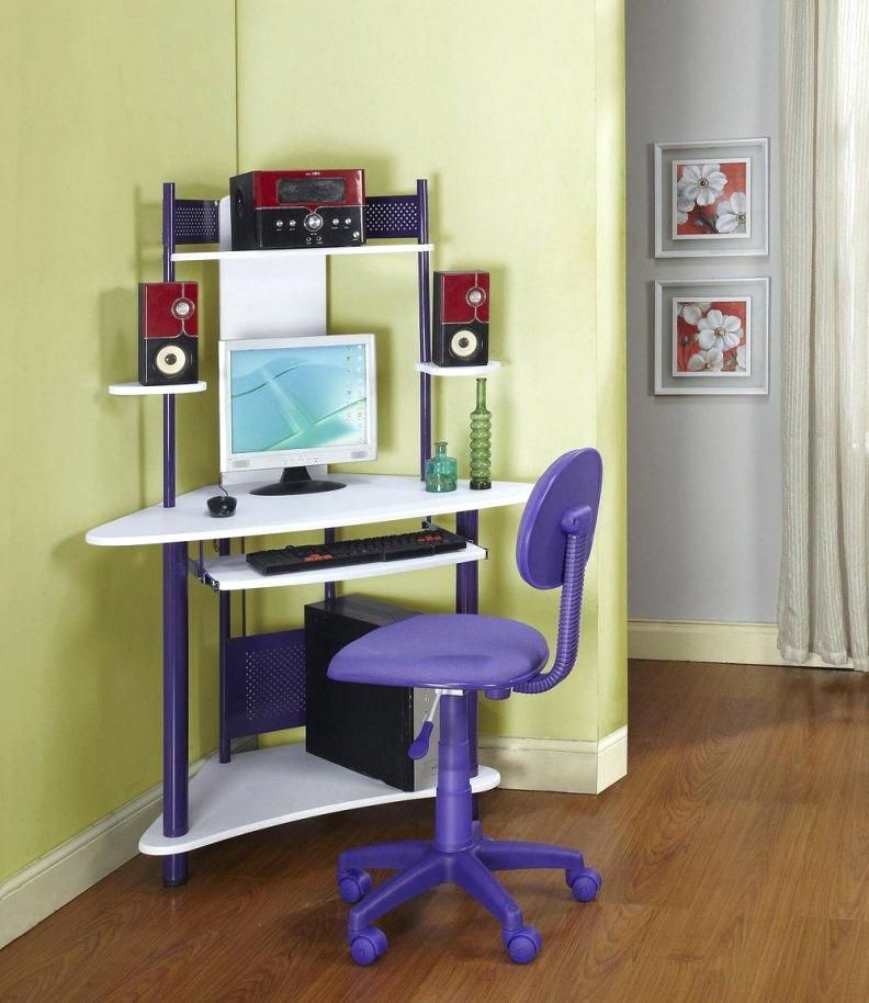 Small Corner Computer Desk With Drawers Computer Desks For Home