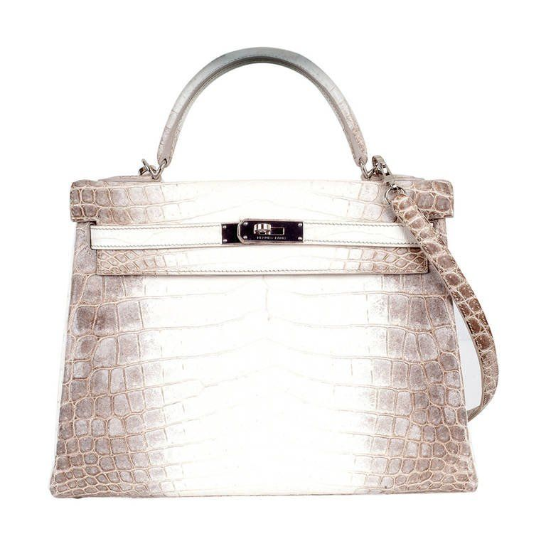 3b0b669457a6 HERMES KELLY BAG 32cm HIMALAYAN WHITE CROCODILE TREAT YOURSELF!! 1