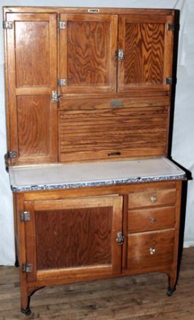 122317: elwood, indiana hoosier (sellers) cabinet, c. 1 ...