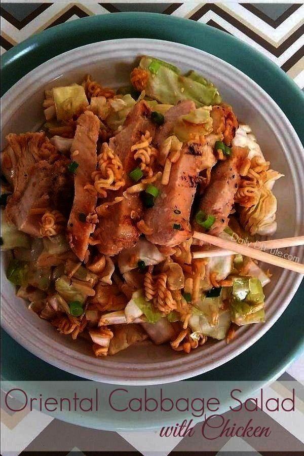 with Chicken MouthWatering Oriental Cabbage Salad with Chicken  フライパンで蒸して作るジンジャーチキンの紹介です旨味がぎゅっと詰まったしょうがを効かせたソースが絶品 オス...