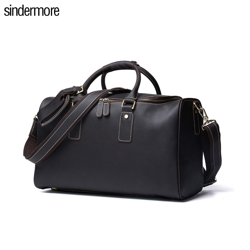 169.00$  Watch here - http://aliox5.shopchina.info/go.php?t=32798962352 - sindermore New large capacity Business Vintage Men Luggage Bags Genuine leather travel bag cow leather suitcases shoulder bag  #magazine