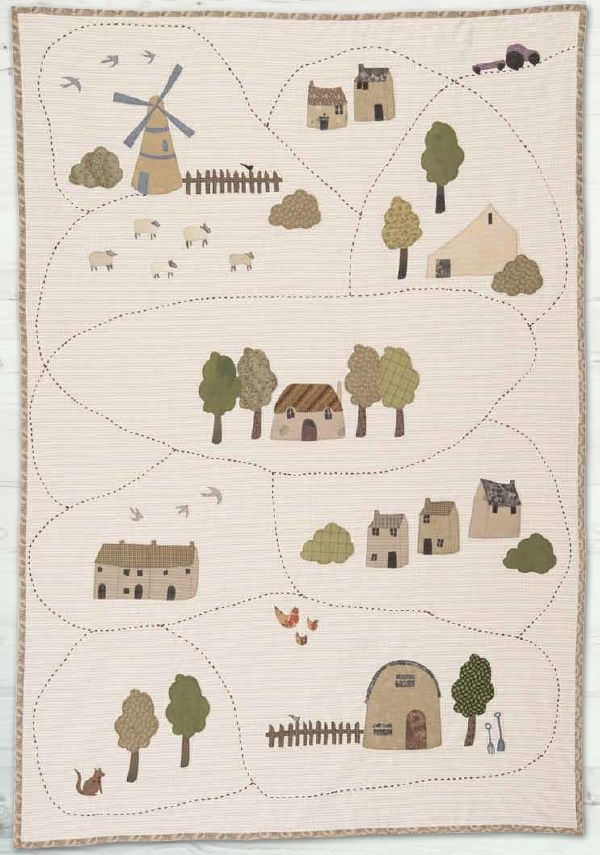 Village Quilt by Janet Clare