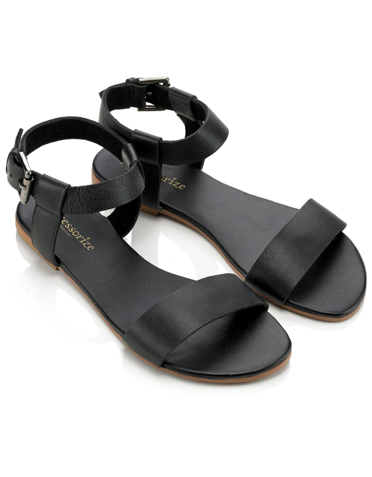 Black sandals holiday - Leather City Sandals