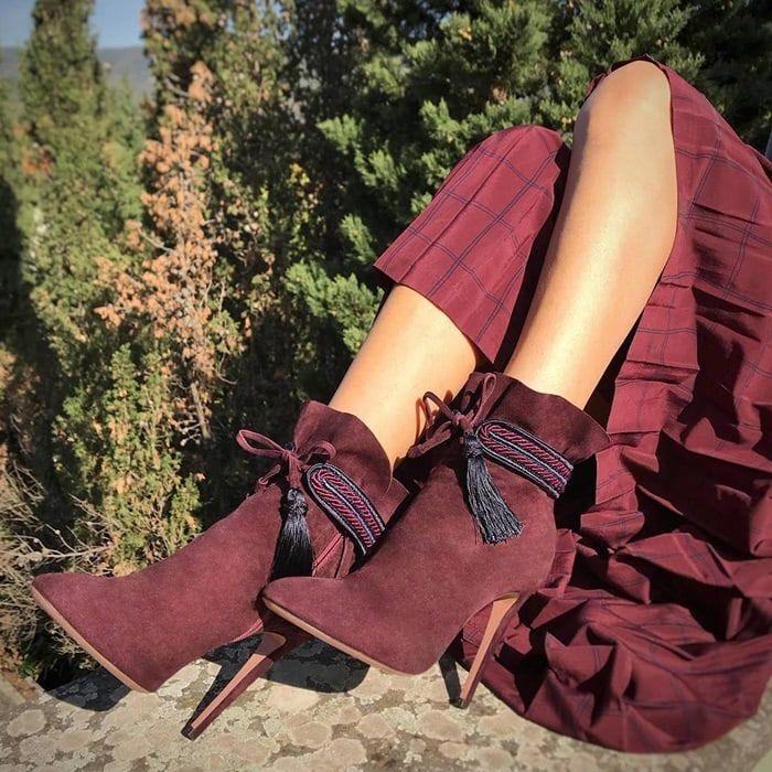 Shanty boots - Pink & Purple Aquazzura cI6G6f8V2
