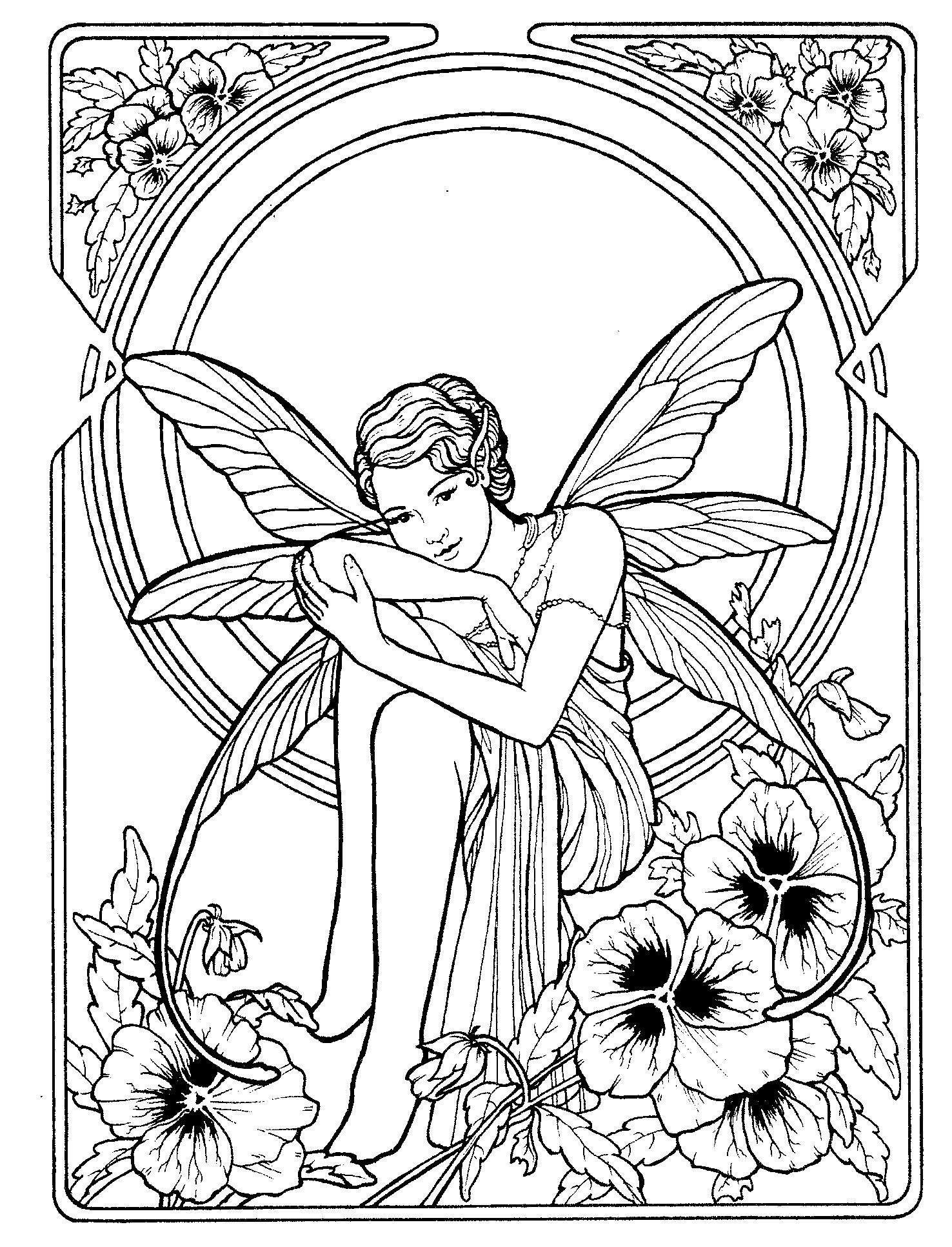 Fairy 1 | COLORING PAGES | Pinterest | Fairy, Adult coloring and ...