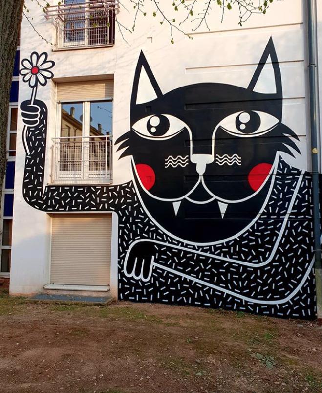 Joachim For Mausa Vauban Musee D Art Urbain Et De Street Art In Neuf Brisach Alsace France 2019 Illustratie Schilderij