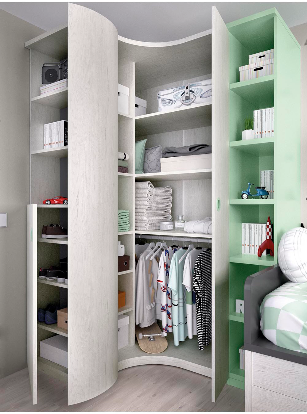 Interior De Armario In 2020 Kleiderschrank Design Ankleidezimmer Kleiner Schrank Design