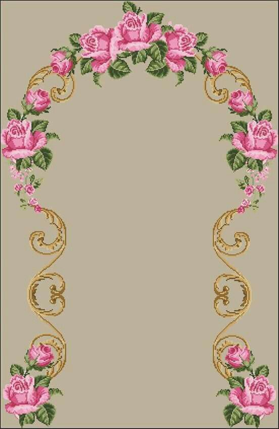 Etamin seccade gül çiçek