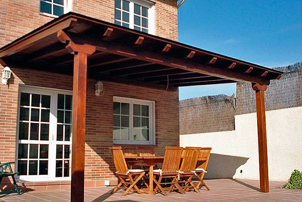 porches-madera-pergolajpg (600×402) casa Pinterest
