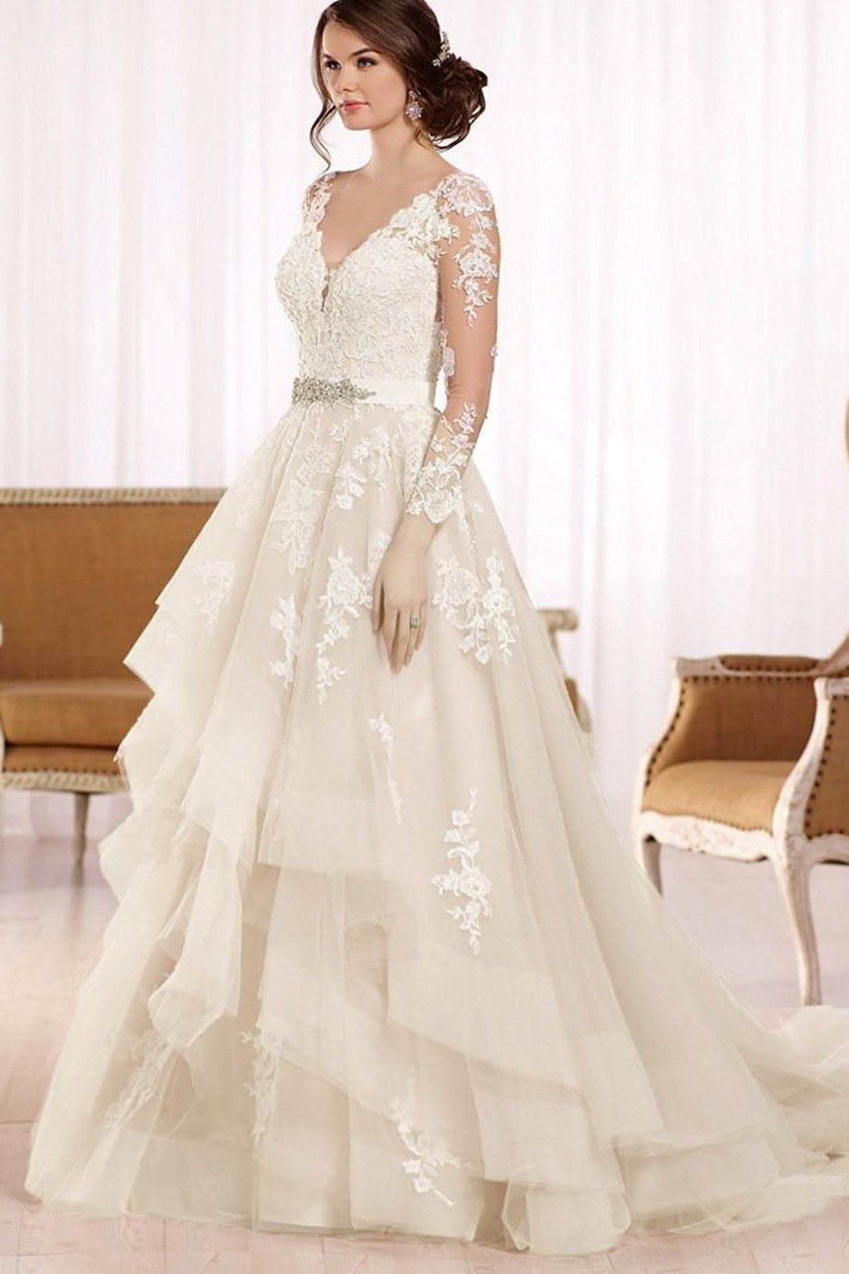 20 Gorgeous Wedding Dresses You Won T Believe You Can Get On Amazon Wedding Dress Trends Wedding Dress Sleeves Wedding Dress Long Sleeve