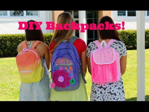 DIY Backpacks (Dip-dye e0cfa7a5e8f09