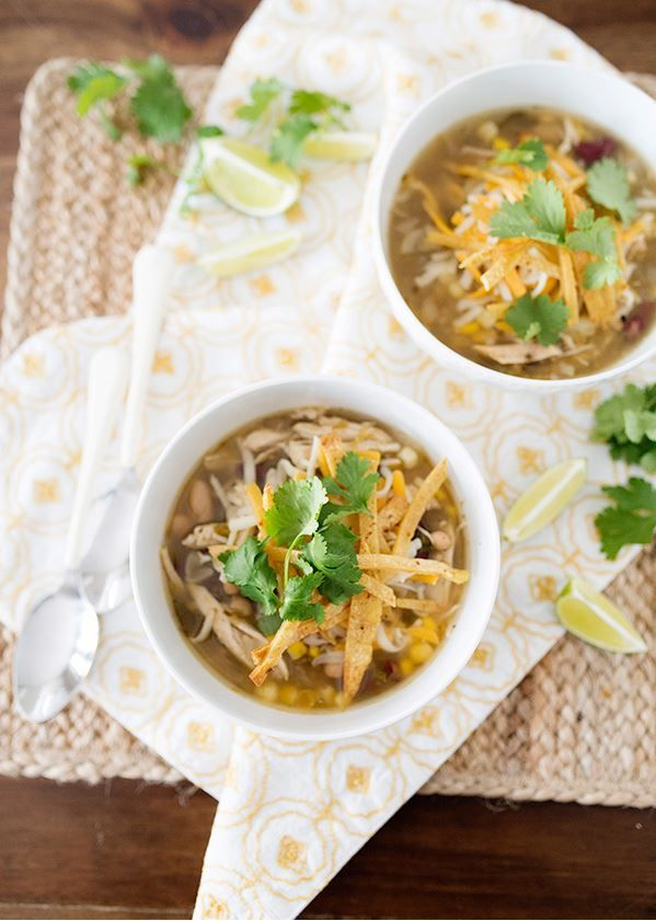 Healthy Chicken and Corn Chili Slow Cooker Dinner Recipe