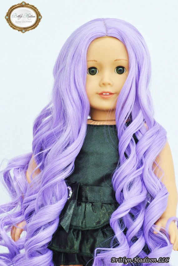 fashion style for hair essential lavender custom doll wig size 10 11 quot for 18 inch 7004