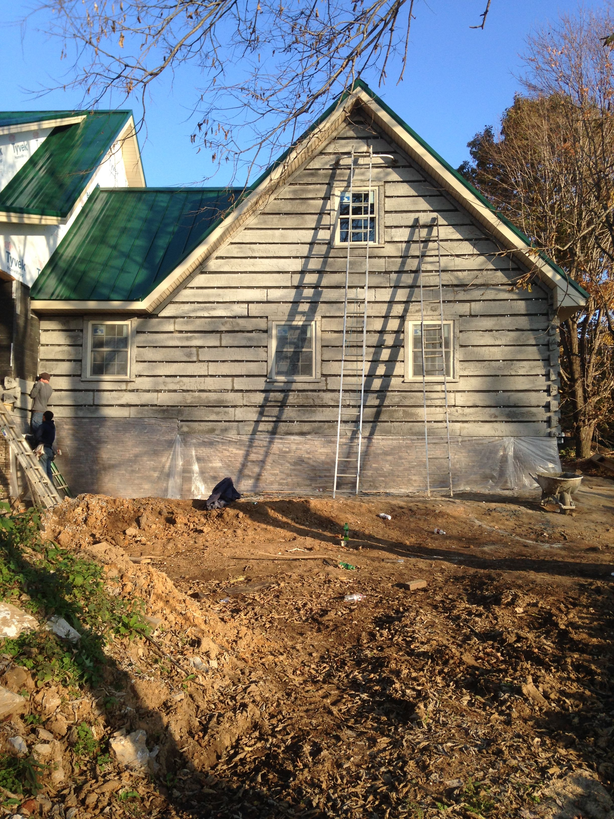 Maintenance Free Concrete Log Siding Old Kentucky Logs