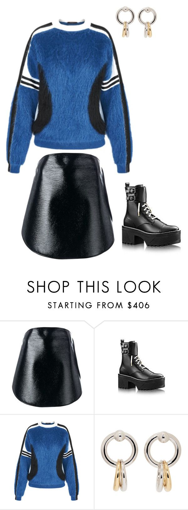 """Martens."" by lucillefourny ❤ liked on Polyvore featuring Courrèges, Louis Vuitton and Alexander Wang"