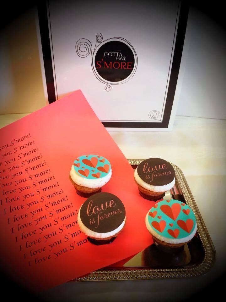 Valentine's Day S'muffins #smores
