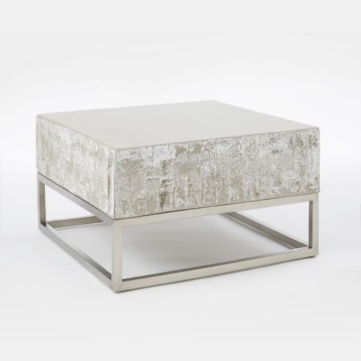 Z Gallerie Marble Coffee Table: Concrete + Chrome Coffee Table In 2019