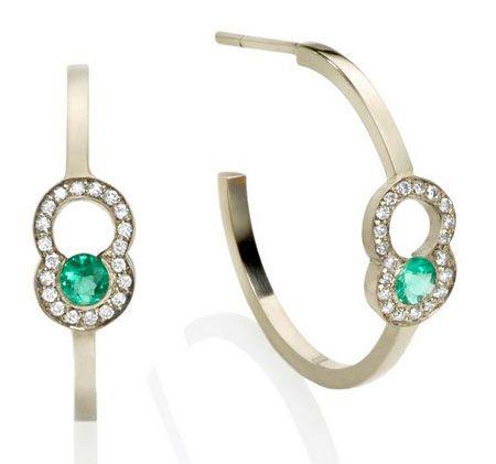 Yael Sonia Rock DNA hoop earrings
