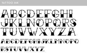 Vintage Tattoo Font Lettering