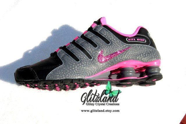 Ships Within 3 Business Days!! Swarovski Nike Women s Size 8.5 Grey ... daaac3a80a