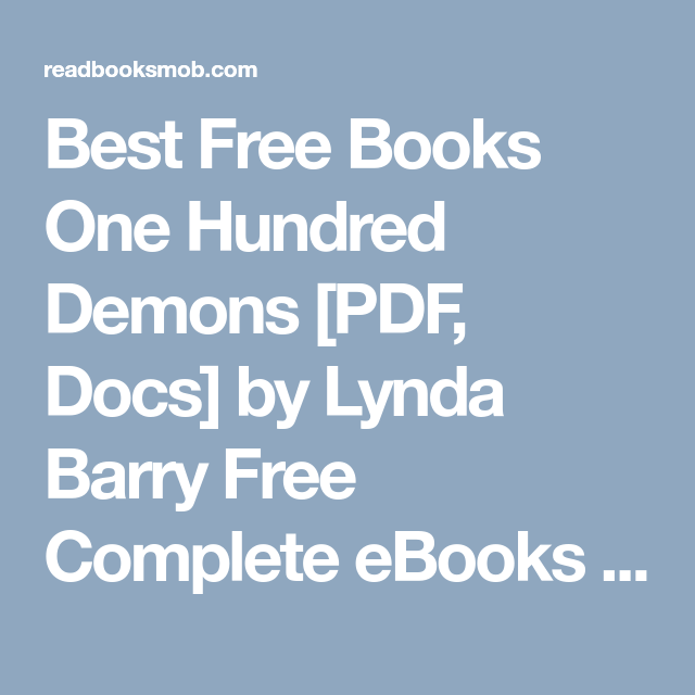 Best free books one hundred demons pdf docs by lynda barry free best free books one hundred demons pdf docs by lynda barry free complete fandeluxe Image collections