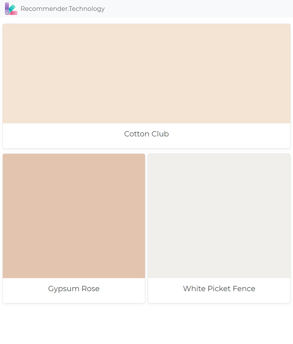Cotton Club Gypsum Rose White Picket Fence Dunn Edwards Paint