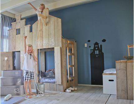 Etagenbett Verschönern : Vorhangstoff hochbett etagenbett kinderbett motiv real