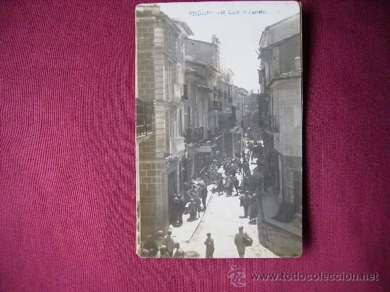 ANTIGUA POSTAL ESCRITA Y SIN CIRCULAR DE REQUENA,VALENCIA.CALLE DE CASTELAR-LA IND.FOTOGRAFICA 18 - Foto 1