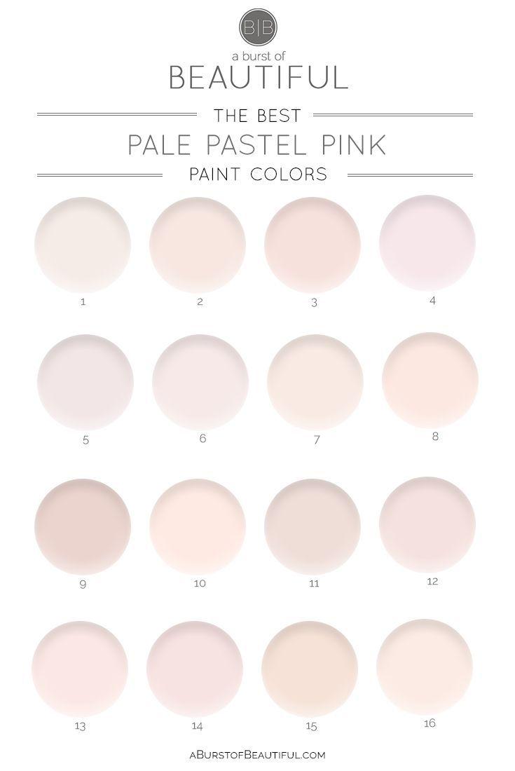 The Best Pale Pink Paint Colors Pink Paint Colors Pink Painted